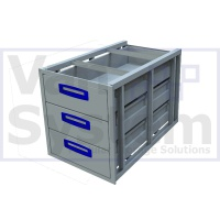 UFD.3.776.466.445 Under Floor Drawer 0.75m - 3 Drawers