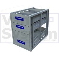 UFD.3.776.466.579 Under Floor Drawer 0.75m - 3 Drawers