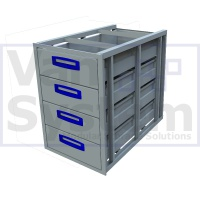 UFD.4.776.466.579 Under Floor Drawer 0.75m - 4 Drawers