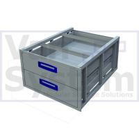UFD.2.776.609.310 Under Floor Drawer 0.75m - 2 Drawer
