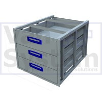 UFD.3.776.609.445 Under Floor Drawer 0.75m - 3 Drawer