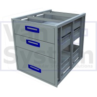 UFD.3.776.609.579 Under Floor Drawer 0.75m - 3 Drawers