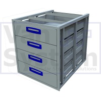 UFD.4.776.609.579 Under Floor Drawer 0.75m - 4 Drawers