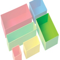Plastic Compartments, Bins & Tubs
